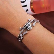 One Piece Bracelet Anime Shop Fashion Jewelry Skull Charm Bangle