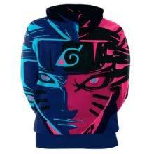 Anime 3D Hoodies Naruto Sasuke Kakashi Sweatshirts