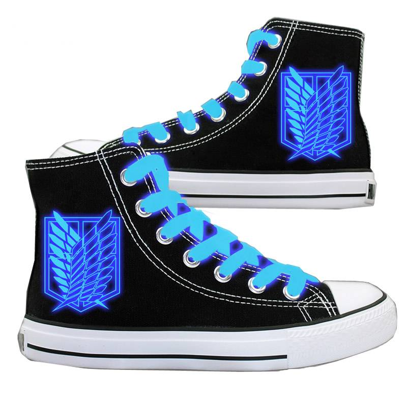 Attack On Titan Cosplay Shoes Canvas Board Luminous Shoes