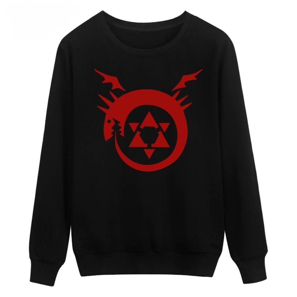 Fullmetal Alchemist anime printed hoodie Sweatshirt men women Winter moletom  tracksuit Plus size Casual Pullover