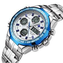 Fashion Waterproof Luxury Steel Men Wristwatches Quartz Watch