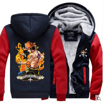 ONE PIECE Monkey D Luffy Hoodies Anime Cosplay Zipper Hoodies