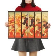 Naruto Vintage Kraft Paper Classic Nostalgia Anime Poster