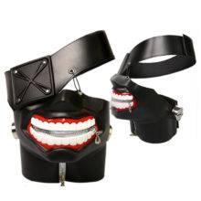 Anime Tokyo Ghoul Kaneki Ken leather Mask Adjustable Zipper Cosplay