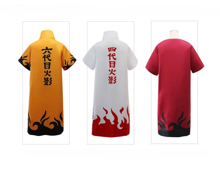 Anime Naruto Cosplay Cloaks Fourth Sixth Hokage Minato Uniform Halloween