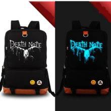 Death Note Luminous Design travel canvas fashion school backpacks