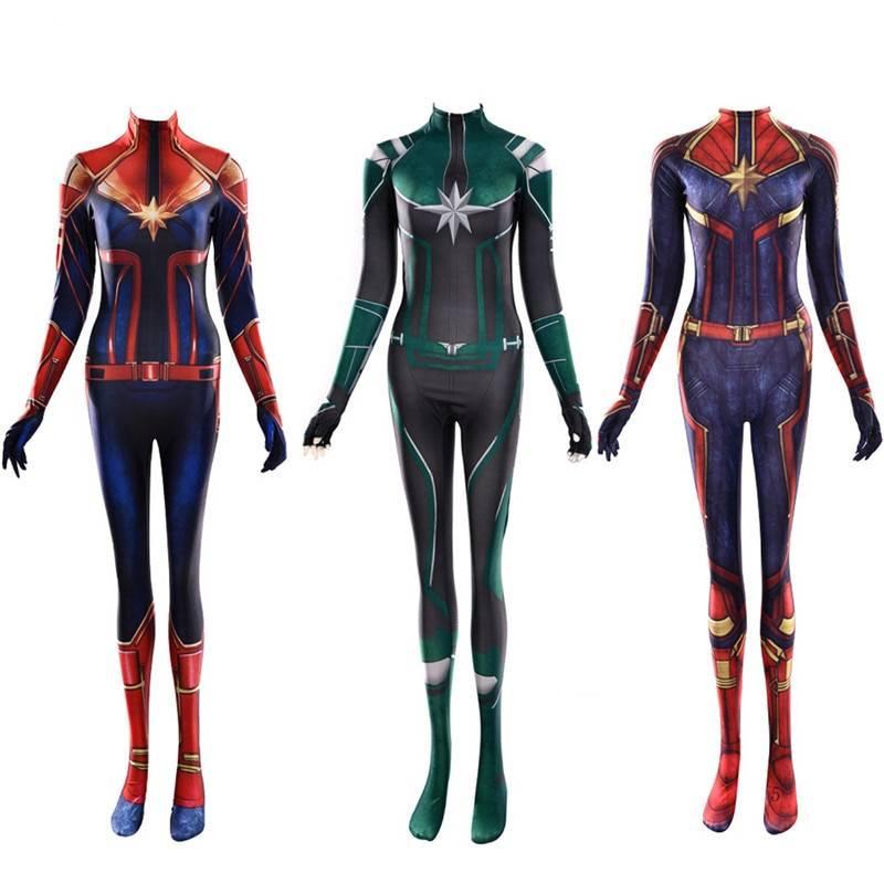 Captain Marvel Costume Superhero Carol Danvers Avengers Halloween Costumes Bodysuit Which is your favourite marvel costume? captain marvel costume superhero carol