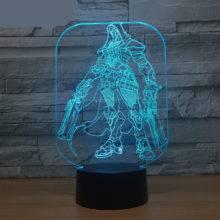 Overwatch 3D Desk Lamp 7 Color Changing Night Light Led