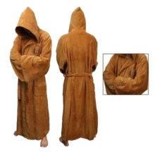 Fashion Flannel Jedi's Hooded Robe Costume Halloween Cosplay