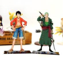 One Piece Luffy Zoro acrylic stand figure model plate holder cake topper