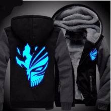Anime Bleach Sweatshirts Hoodie Luminous Unisex Thicken Jacket
