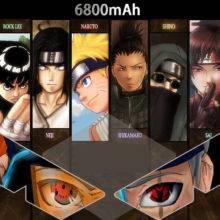 Naruto Power Bank 6800mah Metal Powerbank Charger Mobile