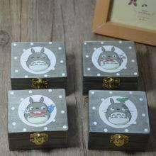 Cartoon Anime Miyazaki Totoro Wooden Music Box Children Birthday Gifts