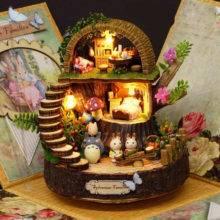 Music Box Anime Cottages Totoro Birthday Gift Present