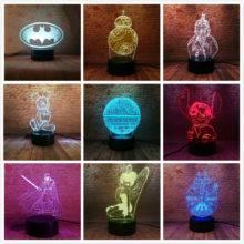 Christmas Decor Bedroom 3D Lamp Decoration Ideas