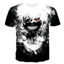 Cool T shirts Anime Tokyo Ghoul Kaneki Ken Fitness Tops Fan Merch