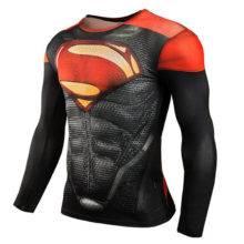 Tights Superhero Superman Fitness T shirts 3D Tops