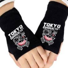Winter Warm Cotton Print Gloves Anime Tokyo Ghoul Black Couple Glove