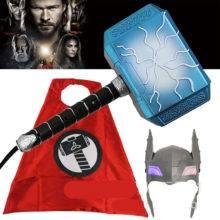 2019 Sell well Avengers Infinity War Thor 31cm Stormbreaker Action figure 28cm Thor's hammer model COSPLAY props Children's toys