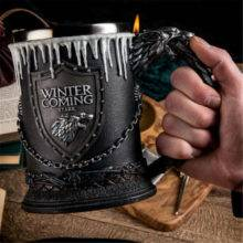 Game of Thrones House Stark Mug The Seven Kingdoms Goblet Winter is Coming Stainless Steel 3D Coffee Mug Drinkware Cup