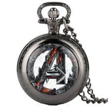 Fashion Mens Pocket Watch Marvel Comics Supermen Pattern Pocket Watches Unique Necklace Chain Pendant Clock Gift Reloj Mujer
