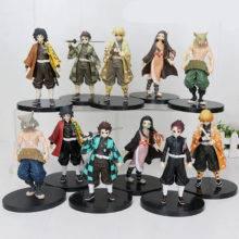 16cm Japan Anime Demon Slayer Kimetsu no Yaiba figure Kamado Tanjirou Nezuko PVC Action Figure Warrior Model Figuals Toys Gifts