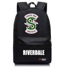 Riverdale South Side Snake School Student Backpack Shoulder Travel Bag Cosplay Bag Halloween Gift