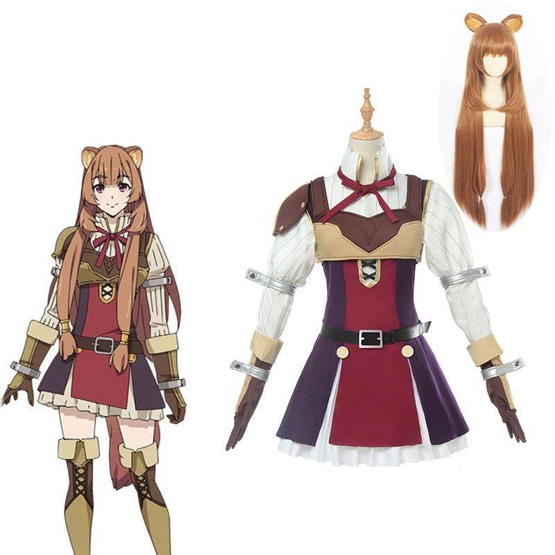 10PCS Anime Tate no Yuusha no Nariagari Cosplay Costumes Raphtalia Costume for Women Cosplay Costume Full Sets and wigs new 2019